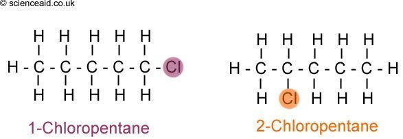 position isomers of haloalkanes