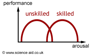 graph demonstrating the inverted U hypothesis