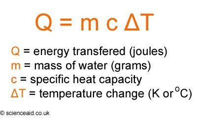 calorimetry equation