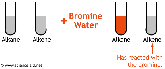 diagram of the bromine water test.