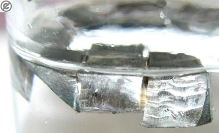 image of lithium suspended in oil