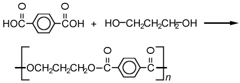formation of a polyester, terylene
